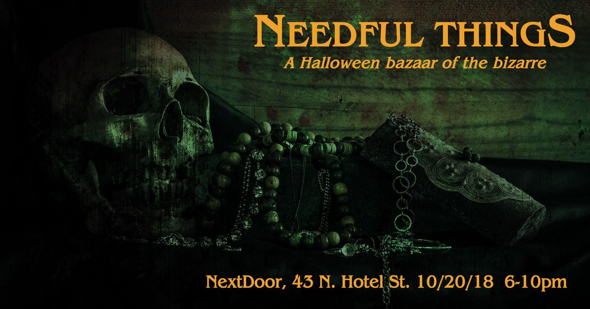needful things a halloween bazaar of the bizarre nextdoor